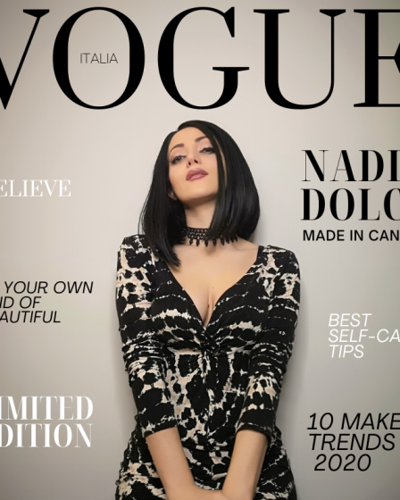 Nadia dolce vogue cover ragazzone model italian Canadian